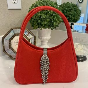 Red cocktail bag